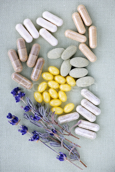Herbal supplement pills Stock photo © elenaphoto