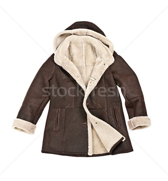 Sheepskin winter coat Stock photo © elenaphoto
