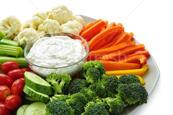 野菜 ディップ 新鮮な野菜 食品 背景 食べ ストックフォト © elenaphoto