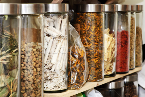Stock photo: Traditional Chinese herbal medicines