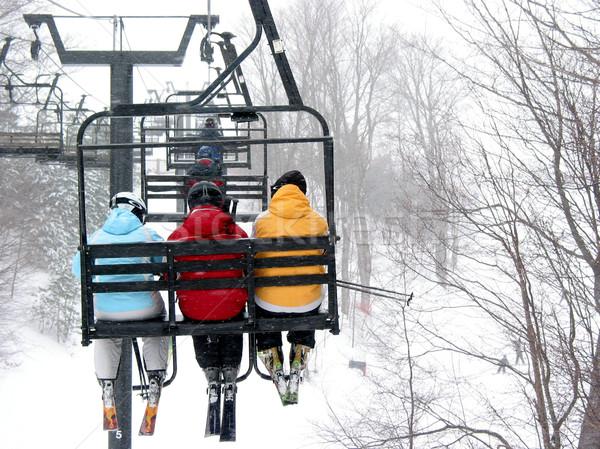 Kayak başvurmak uygunluk dağ kış eğlence Stok fotoğraf © elenaphoto