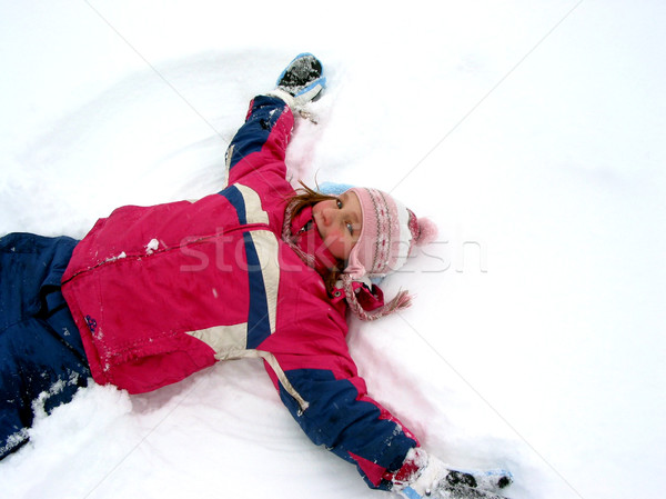 Snow angel Stock photo © elenaphoto