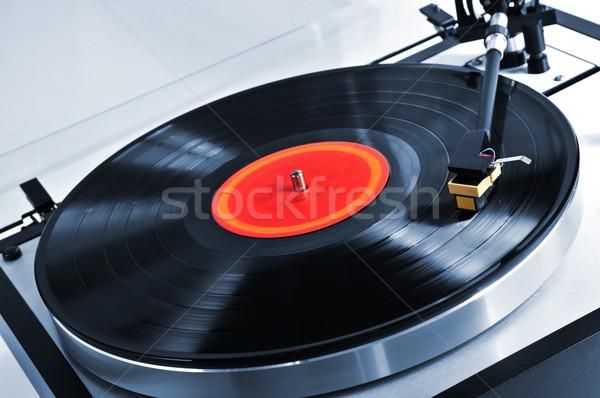 Stockfoto: Record · draaitafel · vinyl · muziek · tabel