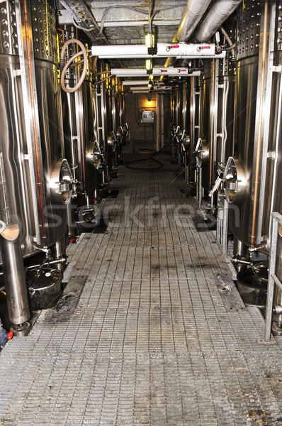 Vinho equipamento tour vinícola metal Foto stock © elenaphoto