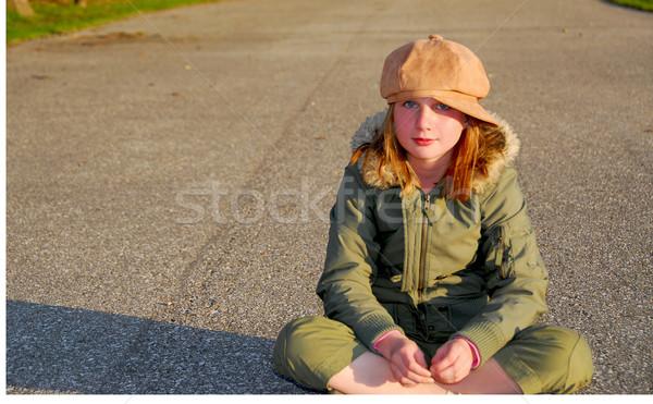 Girl winter clothes Stock photo © elenaphoto
