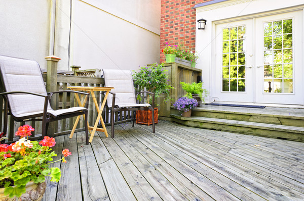 Wooden deck at home Stock photo © elenaphoto