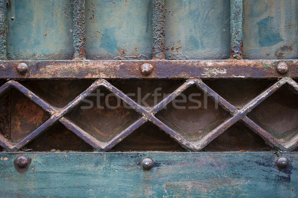 Old gate geometric detail Stock photo © elenaphoto