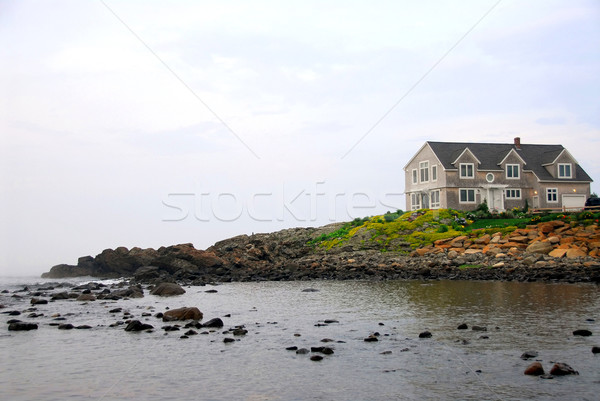 House on ocean shore Stock photo © elenaphoto