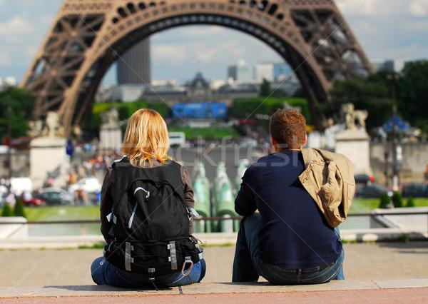 Tourists in France Stock photo © elenaphoto