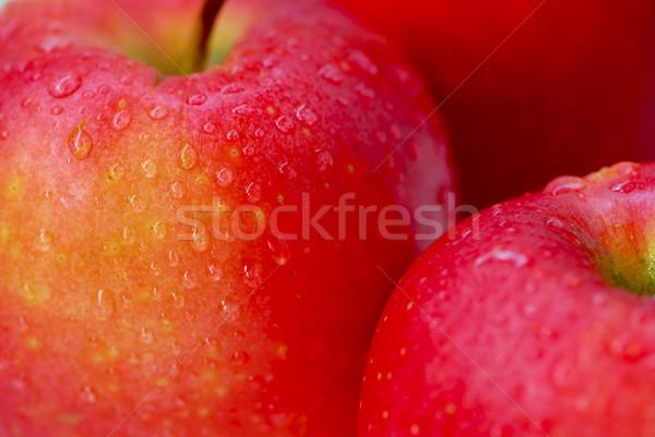 Red apples macro Stock photo © elenaphoto