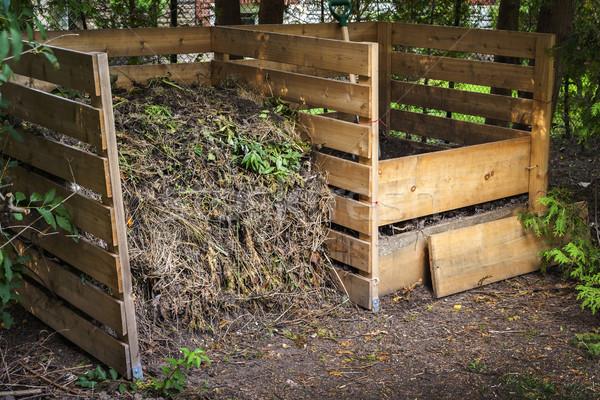 Backyard compost bins Stock photo © elenaphoto