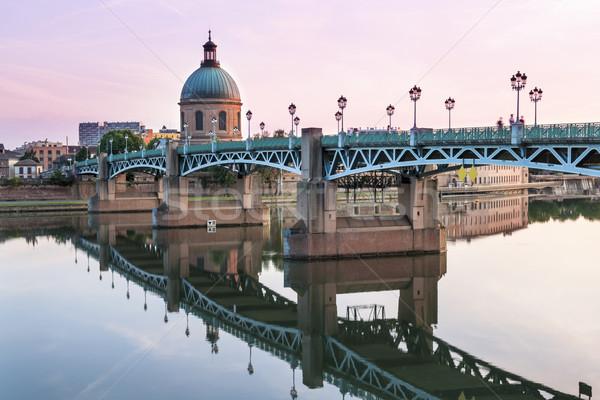 Toulouse at sunset Stock photo © elenaphoto