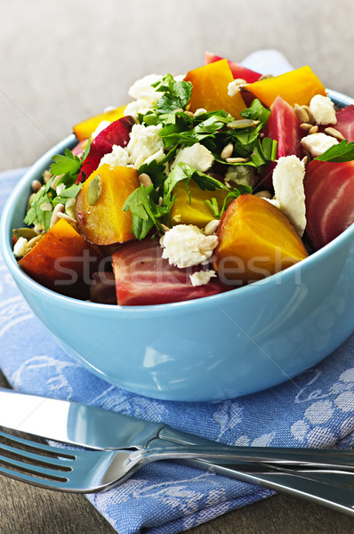 Roasted red and golden beets Stock photo © elenaphoto