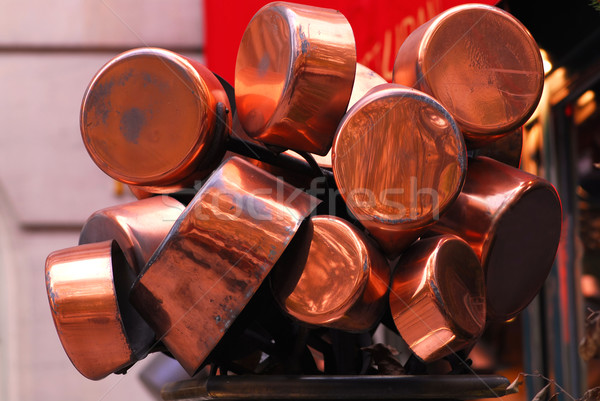 Copper pots Stock photo © elenaphoto