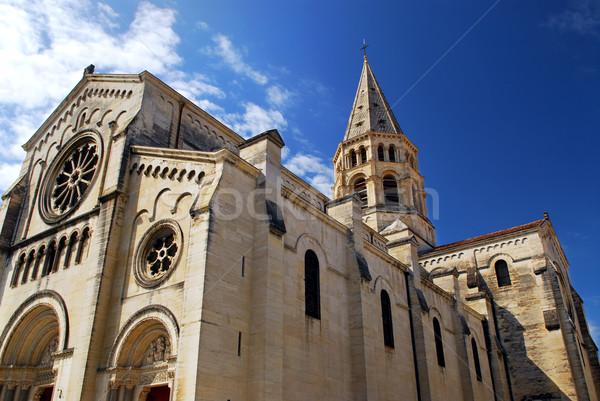 Foto d'archivio: Gothic · chiesa · Francia · città · meridionale · costruzione