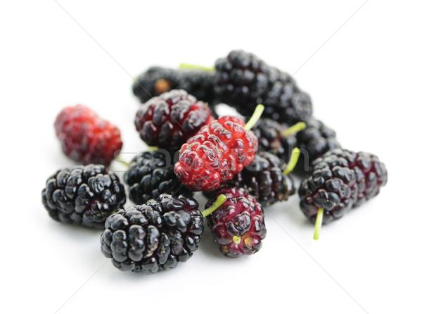 Fresh Mulberries Stock Photo Elena