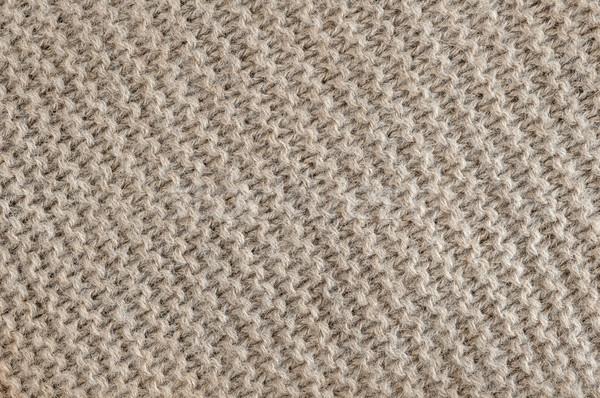 Brown wool knit texture Stock photo © elenaphoto