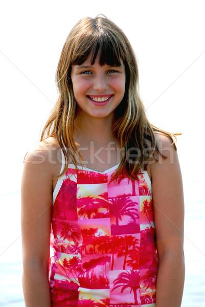 Girl smile portrait Stock photo © elenaphoto