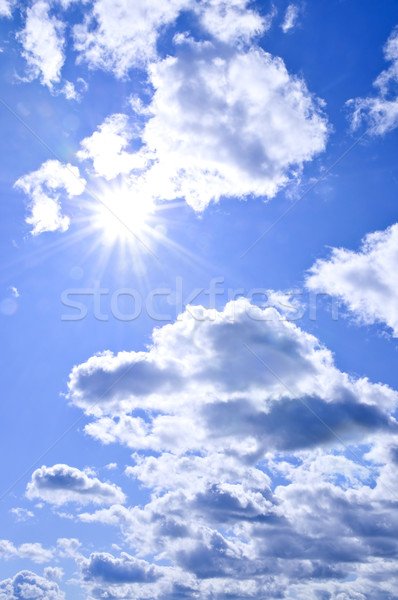 Blue sky shining sun Stock photo © elenaphoto