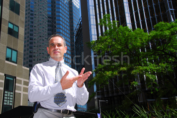 Businessman talking Stock photo © elenaphoto