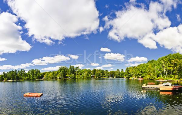 Casa de campo lago mergulho doca belo Foto stock © elenaphoto