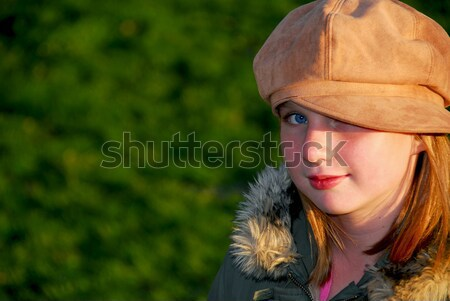 Girl portrait outside Stock photo © elenaphoto