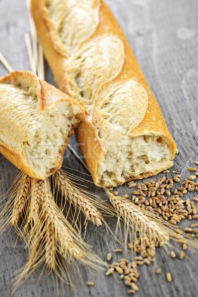 Сток-фото: белый · багет · пшеницы · ушки