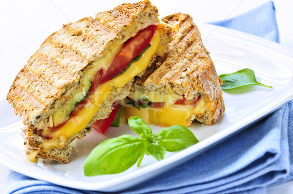 Stock photo: Grilled cheese sandwich