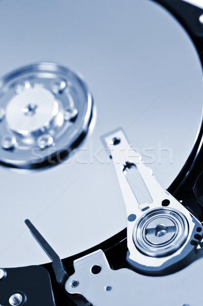 Stock fotó: Merevlemez · részlet · közelkép · merevlemez · vezetés · belső
