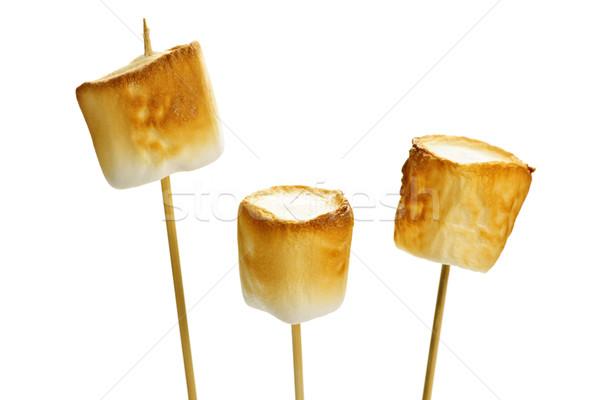 Grillé trois or bois fond bonbons Photo stock © elenaphoto