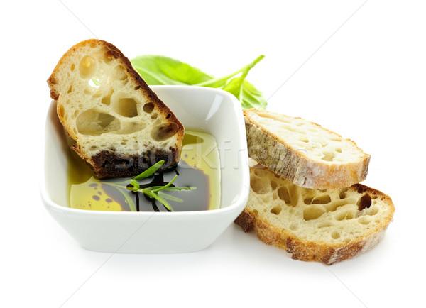 Pão azeite vinagre comida italiana aperitivo vinagre balsâmico Foto stock © elenaphoto