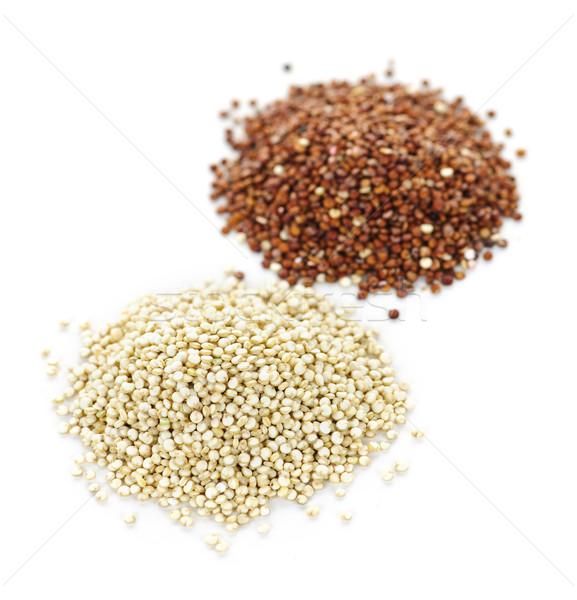 White and red quinoa grains closeup Stock photo © elenaphoto