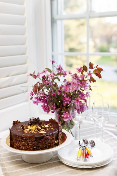 Chocolate cake Stock photo © elenaphoto
