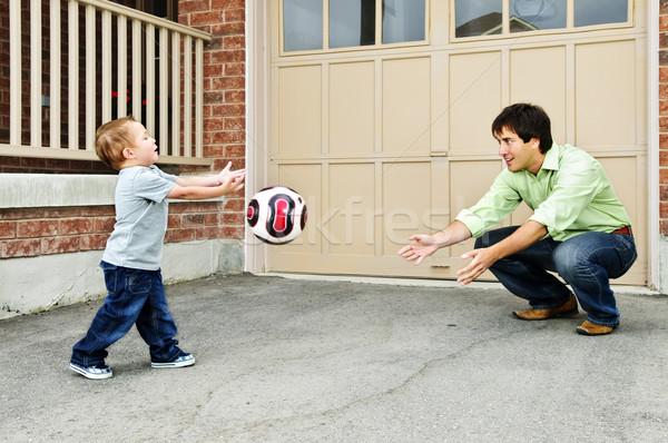 Сток-фото: отцом · сына · играет · Футбол · отец · преподавания · сын