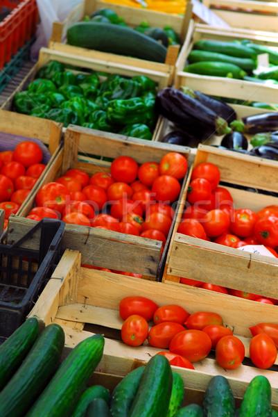 Groenten markt verse groenten verkoop frans boeren Stockfoto © elenaphoto