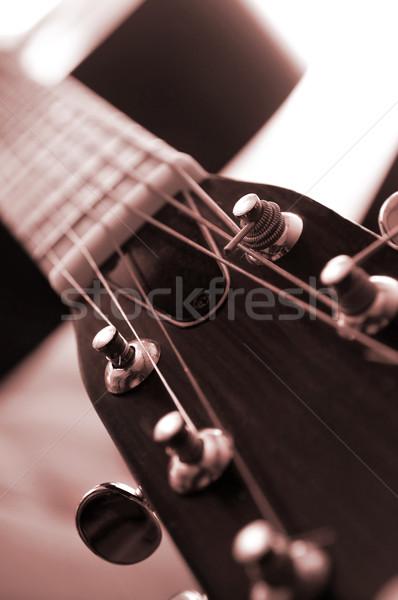 Guitar close up Stock photo © elenaphoto