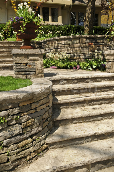 Natural stone landscaping Stock photo © elenaphoto