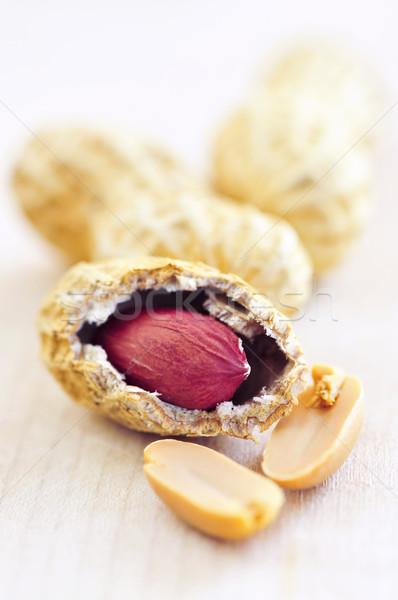 Foto stock: Amendoins · conchas · comida · pele · concha
