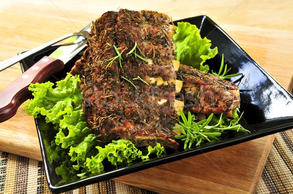 Stock photo: Spare rib dinner