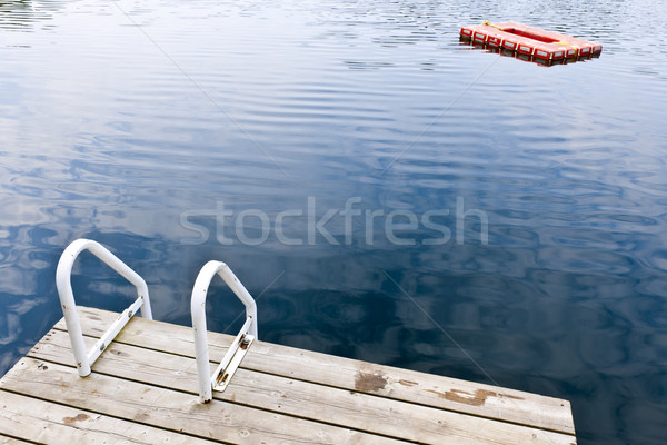 Dock on calm summer lake Stock photo © elenaphoto