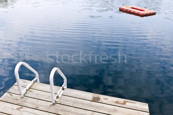 ドック 夏 湖 はしご ダイビング ストックフォト © elenaphoto