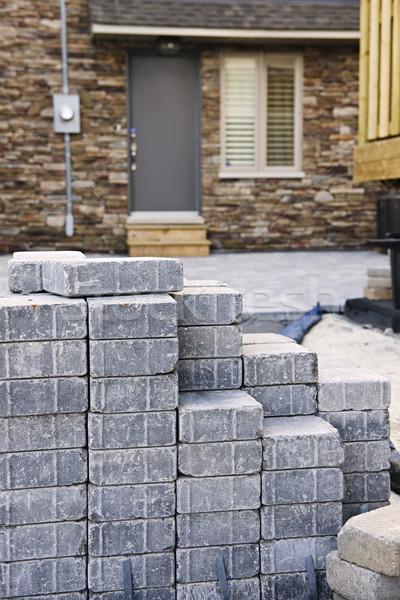 каменные дорога камней озеленение строительство Сток-фото © elenaphoto