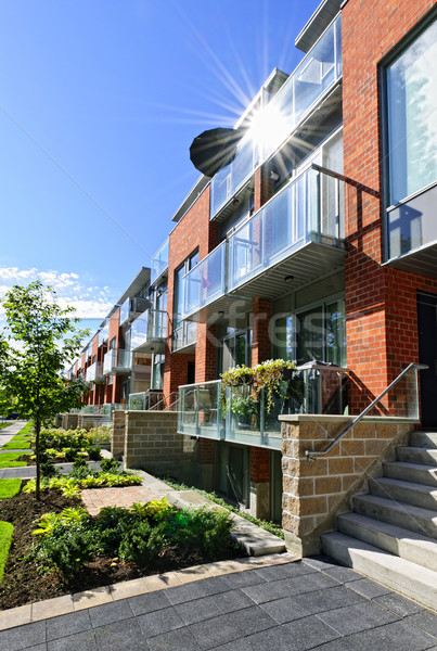 Modern townhouses Stock photo © elenaphoto