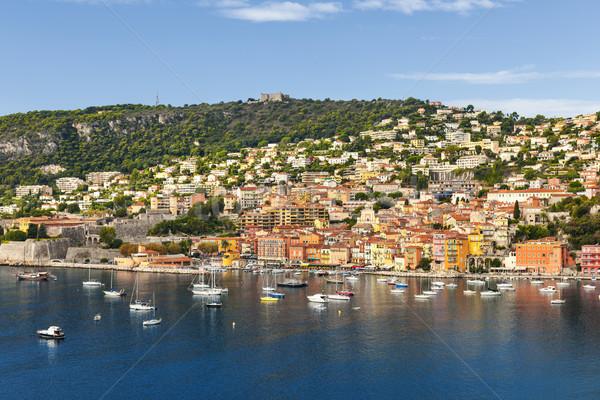 Frans kust pittoreske stad recreatie Stockfoto © elenaphoto