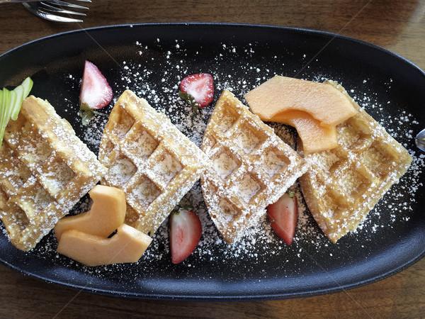 Fruto café da manhã prato frutas sobremesa Foto stock © elenaphoto