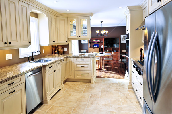 Modern kitchen interior Stock photo © elenaphoto