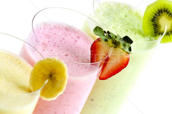 Assorted fruit smoothies Stock photo © elenaphoto