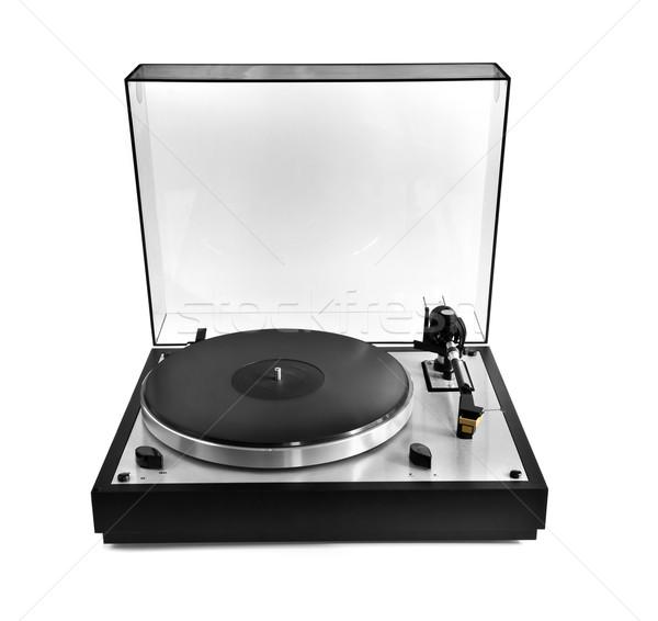 Record Turntable isolé manuel tourne-disque plastique Photo stock © elenaphoto