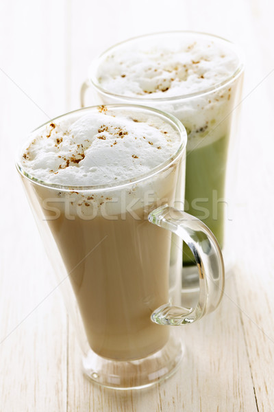 Chai and matcha latte drinks Stock photo © elenaphoto