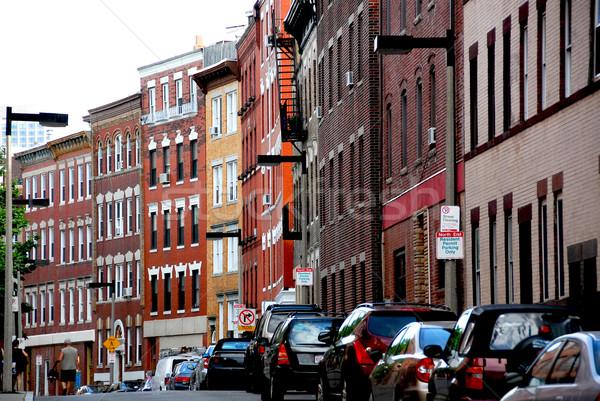 Boston sokak dar kuzey son ev Stok fotoğraf © elenaphoto
